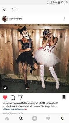 Women's Halloween Costumes Inspiration. View More.burnerlifesty… Women's Halloween Costumes Inspiration. View More. Disfarces Halloween, Halloween Costumes Women Scary, Best Friend Halloween Costumes, Costumes For Women, Halloween Office, Halloween Makeup, Group Halloween, Prisoner Halloween, Halloween Outfits For Women