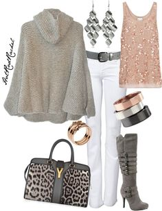 """eveything but the bag. """"silver lining"""" by hotrodrachel on Polyvore"""