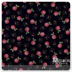 Rosemont Manor - Roxanna Ebony Yardage - E. Vive - Benartex - Missouri Star Quilt Company