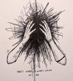 Sad Drawings, Dark Art Drawings, Pencil Art Drawings, Art Drawings Sketches, Dark Art Illustrations, Illustration Sketches, Vent Art, Arte Obscura, Sad Art