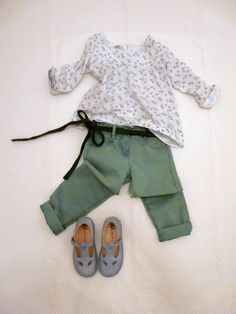outfit for kids EDDIE PEN GREEN TROUSERS on www.fiammisday.com