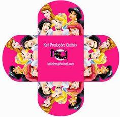 Disney Princess: Free Printable Opex Box.