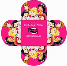 Princesas Disney: Cajas Abiertas para Imprimir Gratis.
