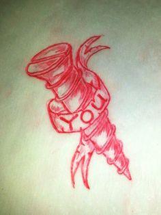 Screw you tattoo sketch by - Ranz