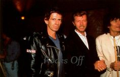 David Bowie visits the Steel Wheels tour in 1989