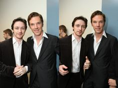 James McAvoy and Benedict Cumberbatch!