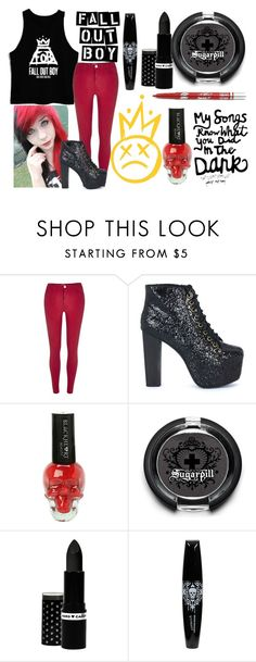 """""""Save Rock & Roll"""" by makenzi-sixx on Polyvore featuring River Island, Jeffrey Campbell, Sugarpill and Hard Candy"""