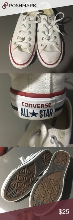 Converse All Star Converse All Stars in white.  Youth size 13.5.  Worn once for kids fashion show.  Minimal / very light scuffing. Converse Shoes Sneakers