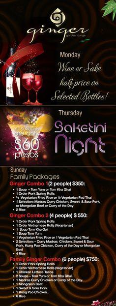 Ginger Garden Lounge Nuevo Vallarta | Promotions