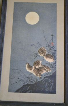 Four Vintage Asian Rice Paper Paintings Framed by PanchosPorch, $95.00