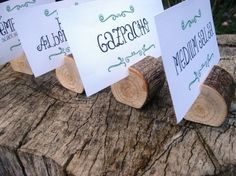 Love this idea for marking the foods at an outdoor party!