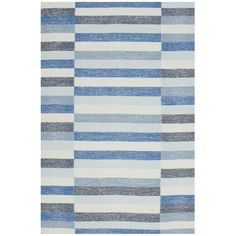 An artful addition to any home, this Safavieh Striped Kilim Ashley Rug expertly blends traditional rug weaving with modern design. Cool and casual, the striped patterning is beautifully displayed through soft cotton yarns and flat weave texture. Wool Area Rugs, Blue Area Rugs, Wool Rugs, Blue Rugs, Lodge Style, Geometric Rug, Blue Wool, Traditional Rugs, Grey Rugs