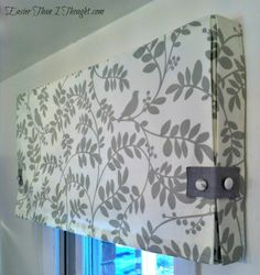 Easier Than I Thought: Box Pleat Valance with Roman Shade