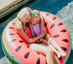 Pool day with my mini me!! Love are swim suits and float from target! (-Savannah)