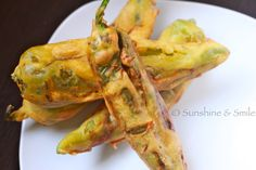 Chilly Bhajji / Deep Fried Peppers