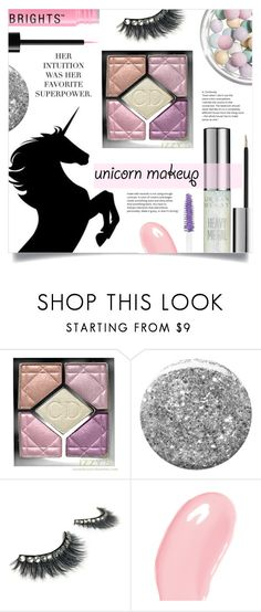 """Unicorn Makeup"" by tawnee-tnt ❤ liked on Polyvore featuring beauty, Christian Dior, Burberry, Dolce&Gabbana, BeautyTrend, Beauty, trending and unicornmakeup"