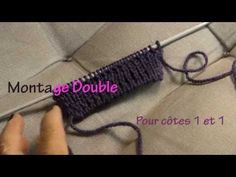 [Tricot] Le montage à croisement double (à la norvégienne) - YouTube Tricot Maille Double, Bind Off, Knitting Videos, Bobbin Lace, Tricks, Fingerless Gloves, Arm Warmers, Montage, Pattern