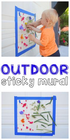 Outdoor Sticky Mural for Toddlers - I Can Teach My Child!