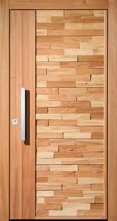 15 Main Entrance Door Design Ideas - The Wonder Cottage Main Entrance Door Design, Wooden Main Door Design, Modern Wooden Doors, Wooden Front Doors, Front Door Design, Entrance Doors, Wood Doors, Window Design, House Door Design