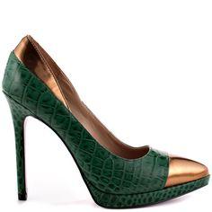 Samara - Olive Croc Bronze by Paris Hilton