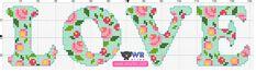 Blog do Wagner Reis: Gráfico toalha LOVE ponto cruz
