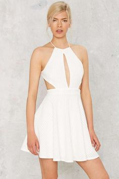 Nasty Gal Marlow Cutout Dress - Clothes | Going Out | Fit-n-Flare | LWD | Dresses