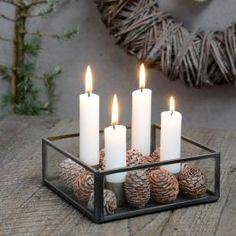 Ib Laursen Kerzenhalter quadratisch für 4 Kerzen - Glasseiten finenordic.de 18,90€