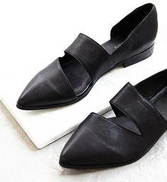 elegant black leather shoes