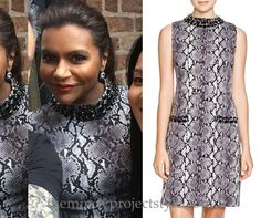 Mindy's embellished snakeskin dress is half price!