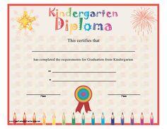 For kindergarten graduation