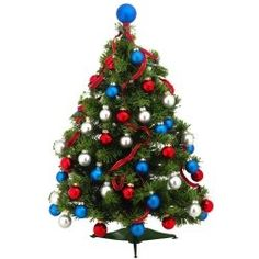 the best red white and blue artificial christmas trees and decorations for 2012 it is - Red White And Blue Decorated Christmas Tree