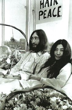 John and Yoko's bed-in for peace, 1969.