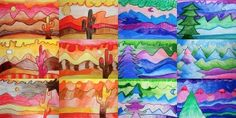 Small landscapes in warm and cool colors - Arte a Scuola
