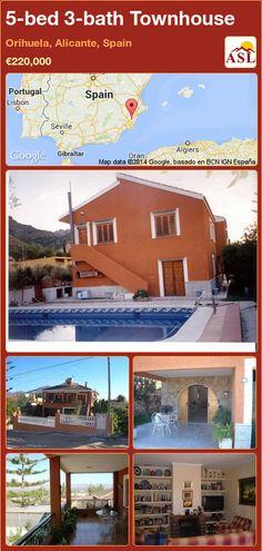 5-bed 3-bath Townhouse in Orihuela, Alicante, Spain ►€220,000 #PropertyForSaleInSpain