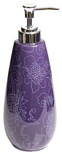 Botanica Purple Soap Dispenser / Lotion or Soap Pump
