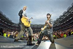 Adam Clayton and The Edge, U2, Croke Park, Dublin, 25 July 09 by Neil Lupin / neillupin.com, via Flickr