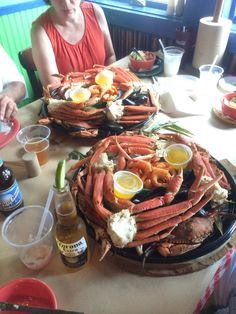 Seafood dinner at The Crab Bag in Ocean City, Maryland! Sooo messy! #seafood #beach #travel #foodie #crab #shrimp