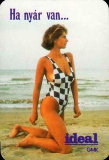 A legszebb magyar szupermodellek, topmodellek, sztármanökenek, manekenek, fotómodellek (RETRÓ): Pintér Szilvia szupermodell, sztármanöken Retro Advertising, Retro Ads, Vintage Ads, Beautiful Mind, Beautiful Women, Girl Posters, Striped Swimsuit, Bikinis, Swimwear