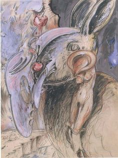 Christian Ludwig Attersee, Hasenschneide, 1976 © Bank Austria Kunstforum Bank Austria, Ludwig, Drawing, Contemporary Art, Painting, Animals, Collection, Paper, Drawing S