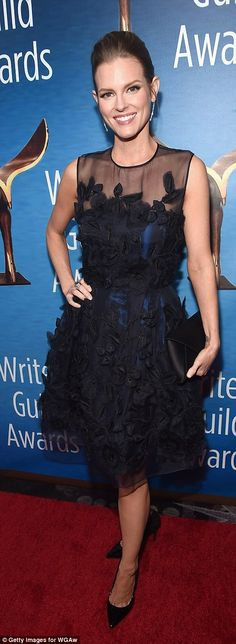 The glam factor! Wendi McLendon-Covey and Chelsey Crisp brought some serious style to the ...