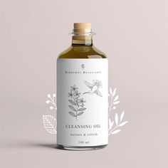 Label design for Bimbimbi botanics / packaging design / brand package / illustration Skincare Packaging, Tea Packaging, Pretty Packaging, Cosmetic Packaging, Brand Packaging, Bottle Packaging, Simple Packaging, Product Packaging Design, Bottle Labels