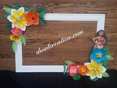 Check out this item in my Etsy shop https://www.etsy.com/listing/549663851/moana-paper-flower-set-frame-not