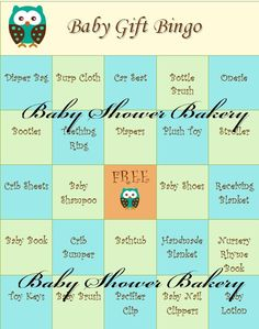 Baby Shower Bingo Game Printable Baby Shower by BabyShowerBakery
