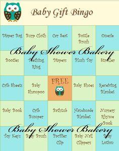 Baby Shower Bingo Game Printable Baby Shower by BabyShowerBakery