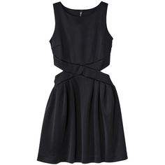 labworks Women's Sleeveless Neoprene Dress - Black (55 BRL) ❤ liked on Polyvore featuring dresses, vestidos, robes, short dresses, sheer sleeve cocktail dress, pocket dress, sleeveless short dress, see through dress and sleeve cocktail dress