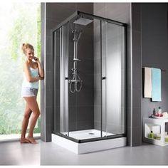 Eckdusche »Trento Black«, variabel verstellbar 80 - 90 cm, Duschkabine online kaufen | OTTO Bathroom, Yourhome, Mirror Selfie, Bathtub, Mirror
