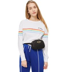 Main Image - Topshop Queenie Quilted Bumbag