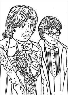Dibujos para Colorear Harry Potter 39