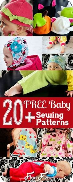 I love all these free patterns with video tutorials.  Her baby car seat covers are the best. For Baby I www.fleecefun.com