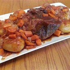 Slow Cooker Sweet-and-Sour Pot Roast